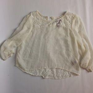 arizona jean lace girl shirt